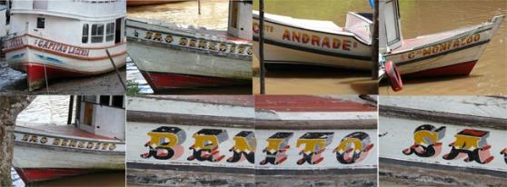 Fotos das embarcações na Amazônia